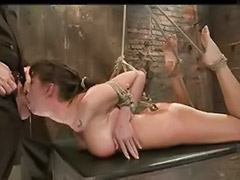 Toy and fucking, Tits bound, Tits bondage, Tit bound, Tit bondage, Mouth toy