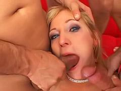 Çince, Tits fuck swallow, Tit swallow, Tit fuck, deepthroat, Tit fuck swallow, Swallow gangbang