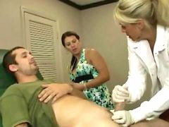 Doctor, Milf, Hot, Jerking