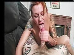 Tits pain, Tattooed redhead, Redhead pov, Redhead handjob, Redhead big tits masturbation, Robbing