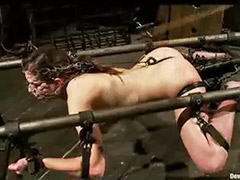 Toy in pussy, Pussy bondage, Strap -on, Metal bondage, Device bondage, Device