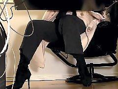 Under desk, Under a g e, Under, Stockings cam, Stockings masturbation, Stocking, masturbating
