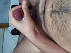 Work solo, Work masturbation, Work cum, Work bathroom, Solo hairy gay, Solo gay hairy