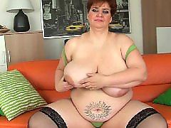 Bbw, Mature, Old, Granny, Big tits, Huge dildo