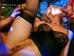 Two blonds, Two milf, Stockings facial, Italians, Two facial, Two blondes