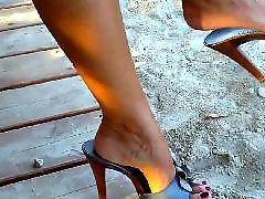 Public, Feet, Beautiful, Close up