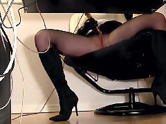 Under a g e, Under, Hidden cams, Hidden, Under desk, Stockings cam