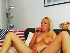 Blonde toy solo, W-girls dildo, Tits sucking, Tits suck, Tits solo webcam, Tits solo toy masturbation