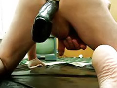 Two asses, Two toys, Two toys anal, Two ass, Takes two, Toy in ass solo