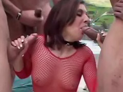 Anal double toy, Three penetration, Three sex, Three blowjob, Three cums, Three cum