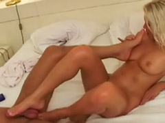 Hot babe masturbating, Footsies, Footsie babes, Footjob cum, Footjob blonde, Footjob blowjob