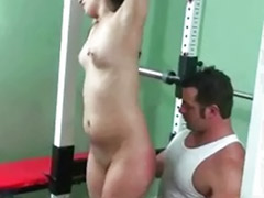 Modeling, Model sex, Model blowjob, Model blond, Fittings, Fitness sex