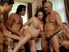 Pregnant, Daughter, Gangbang