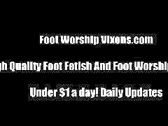 Worship pov, Worship foot, Redding, Red stockings, Red panties, Red foot