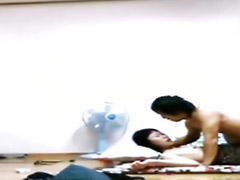 Waking, Korean gf, Korean couple, Drunken, Gf asian, Korean amateur