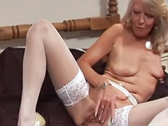 Toying granny, Toy granny, Suzie, Suzi f, Stockings high heels solo, Stockings granny