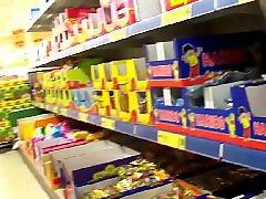Upsرقص, Lady, Ups, Up close, Pov up, Supermarket