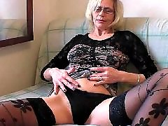 Mature stockings, Hairy mature