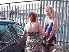 Public lesbians, Public lesbian, Public femdom, Public bondage, Spark, Satin lesbians