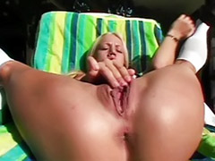 Solo girl tease, Solo tease, Wylde, Shaved tease, Shaved solo outdoor, Solo blonde outdoors