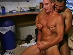 Sex at office, Office rim, Hot office, Gay two cum, Gay male rimming