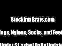 Stocking, Stockings, Lesbian threesome, Lesbian