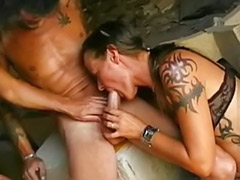 Two sluts, Pierced german, Two amateur sluts, Threesome cumshot, Milf outdoor sex, Milf cumshots