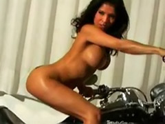 Naked tits, Motorbike, Fan