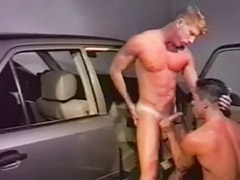 Vintage gay oral, Vintage gay, Vintage bareback, Sex the car, Sex in the garage, Sex in car