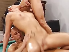 Bar bar, Threesome funny, Waitress anal, Public german, Public double penetration, Funny fuck