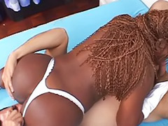 Lick her ebony ass, Lick ass ebony, On heels, Interracial high heel, Interracial heels, Interracial big booty