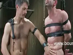 Metal bondage, Logan, Gay bound, Bound gay