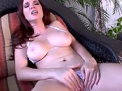 Masturbation, Webcam, Redhead