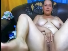 Chubby solo, Mature webcam