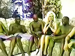 Pal, Black gal, Amateur interracial gangbang