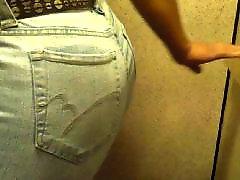 Voyeur, Mature, Black, Jeans