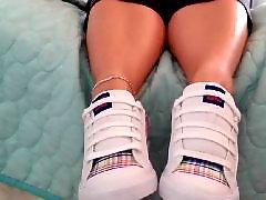 Teasing, Teases, Tease foot, Tease, Sneakers, Sneaker