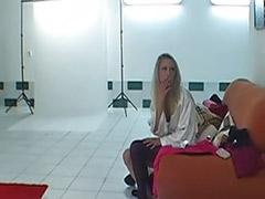 Sexy striptease, Czech solo, Backstage, Czech blond