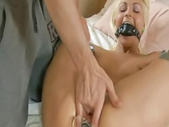 Slim blonde, Tied blond, Squirt tied, Tied squirt