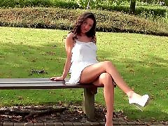 View, Under heels, Under a g e, Under, Public upskirt, In dress