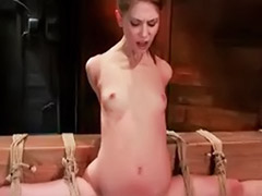 Rope, Tight small tits, Tits pain, The pain, To tight, To small