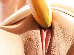 Maya masturbating, Maya k, Maya b, Maya, Fuck banana, Banana solo