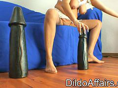 Mature, Huge dildo