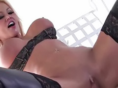 Threesome stockings blonde, Stockings big tits threesome, Nikita, Big tits stockings threesome
