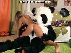 Panda, Seduces, Seduced girl, Seduce girl, Seduce blonde, Seduce