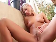 Horny solo pussy, Horny blonde fingering