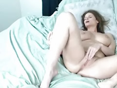 Big tits solo, Webcam orgasm