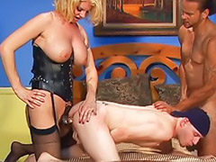 Threesome bisexual, Pussy lick threesome, Pussy dripping, Pussy drip, Stockings pussy licking, Stockings big tits threesome