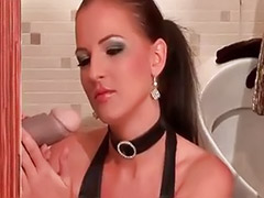 Threesome stocking heels, Suck two, Sucking two cocks, Stockings threesome big cock, Stockings suck cock, Lingerie sucking