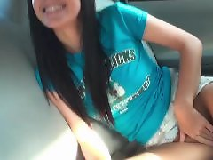 Teen, Car, Public, Flashing